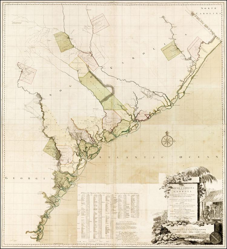 William Gerard De Brahm A Map Of South Carolina And A Part Of - Map of south carolina